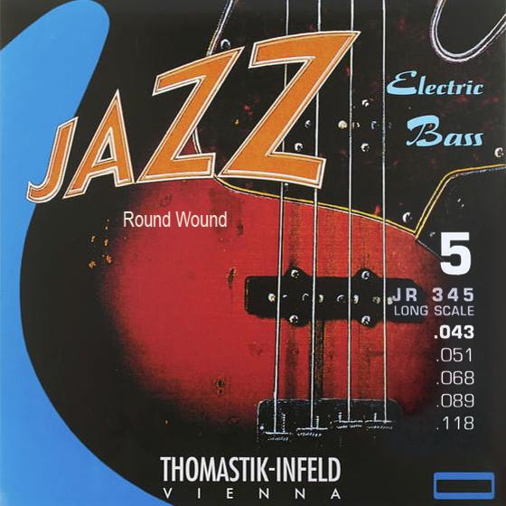 THOMASTIK JAZZ BASS 5 str. kulaté opředení JR345 Baskytarové struny - sada