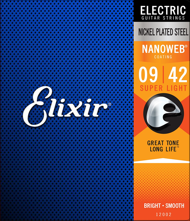 Elixir NANOWEB 12002 - Struny na elektrickou kytaru - sada