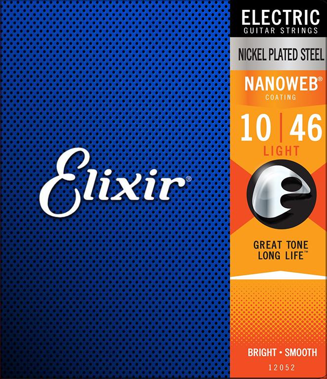 Elixir NANOWEB 12052 - Struny na elektrickou kytaru - sada