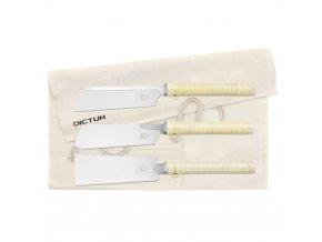 Dictum 712120 - Compact Saws, 3-Piece Set, Wooden Handle