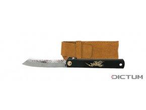 Dictum719075 - Folding Knife Higo-Style Kuro, incl. Leather Case