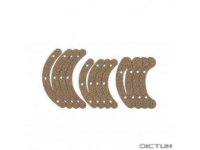 Dictum 735645 - Rubber Cork Pads for Herdim® Gluing Clamp Set, Violin