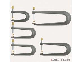 Dictum 705894 - Aluminium Repair Clamps, 5-Piece Set
