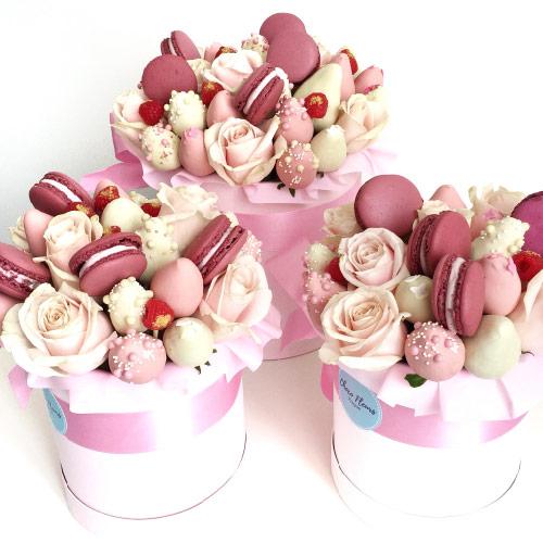 Sladké ovocné kytice v čokoládě