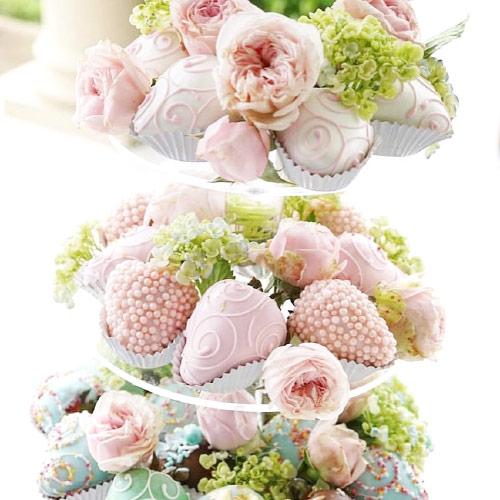 Candy bar a jahody v čokoládě k vaši svatbě.