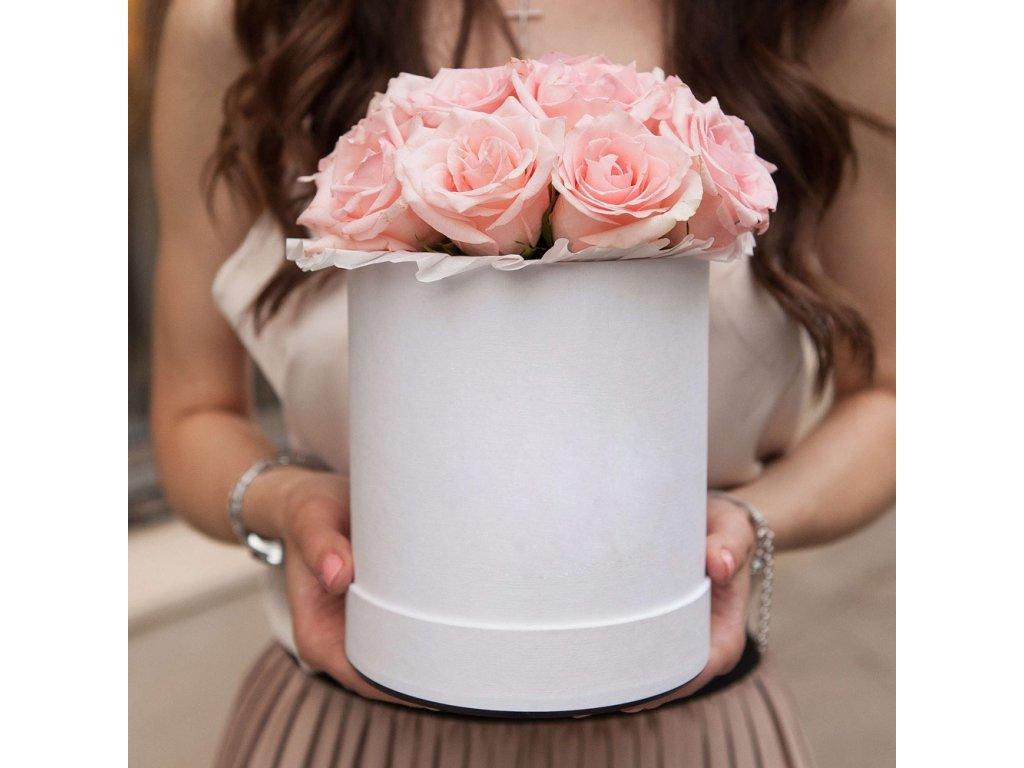 Květinový box - růže Pink Kenya MINI