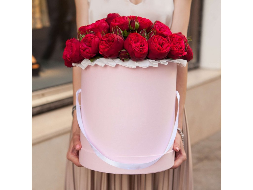 Květinový box - růže Red Piano (11ks)