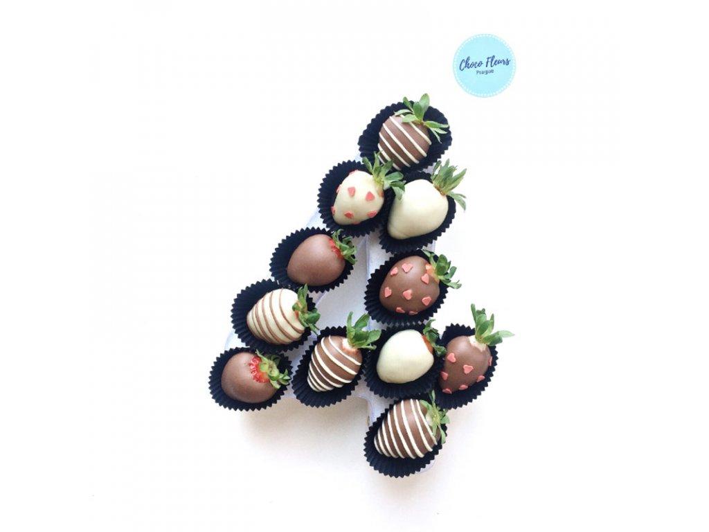 Číslice z jahod v čokoládě - pánská