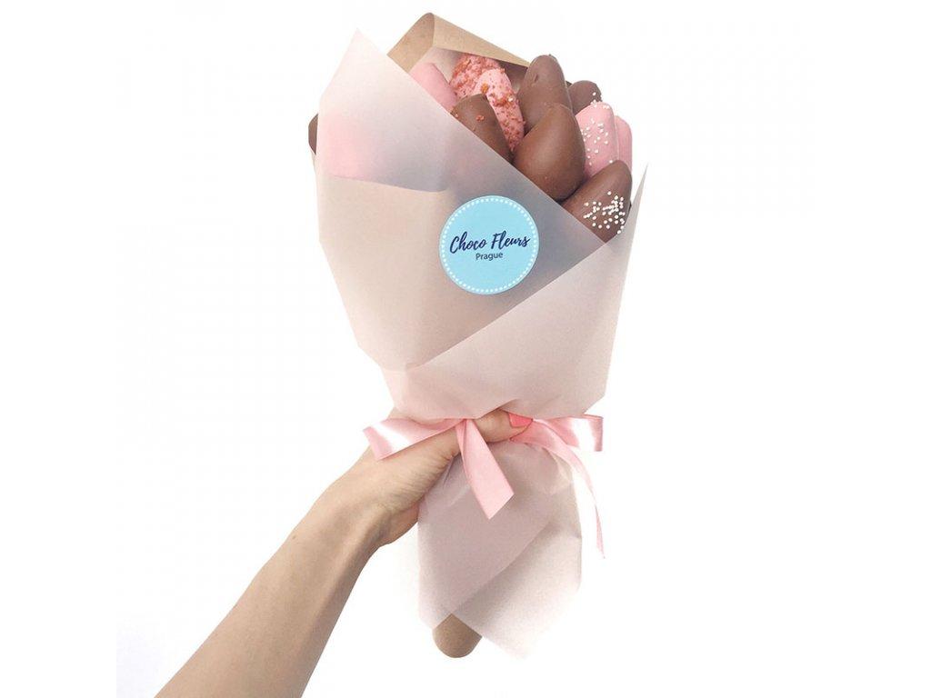 Kytice z jahod v čokoládě - Milky Pinky