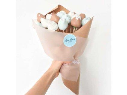 Kytice z jahod v čokoládě  - 20 ks
