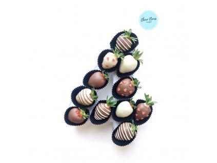 Číslice z jahod v čokoládě pánská 1