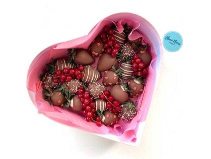 """Srdce z jahod v čokoládě """"Devotion"""""""