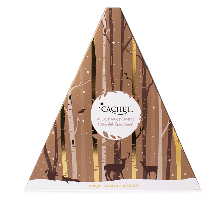 cachet triangl hnědý