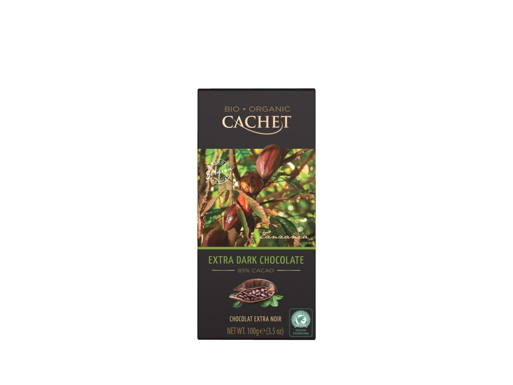 Tabulková čokoláda Cachet -BIO extra hořká 85%, 100 gr