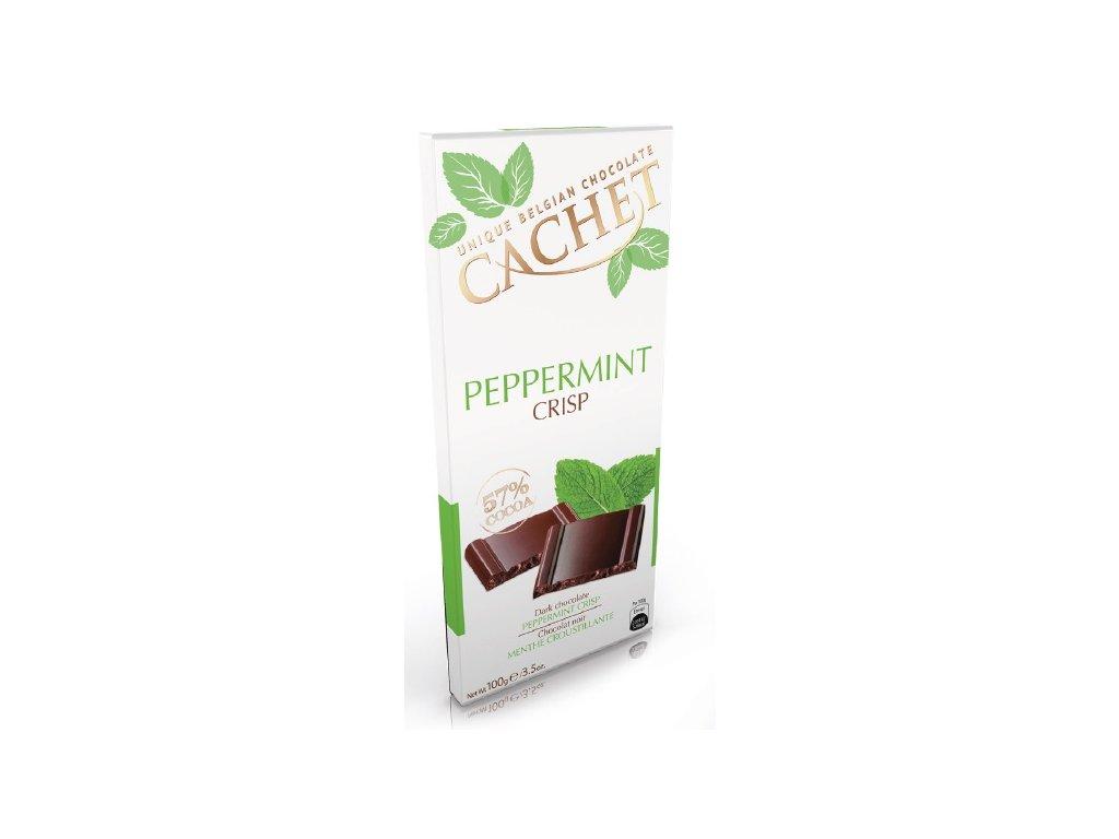 Tabulková čokoláda Cachet -hořká s mátou, 100 gr
