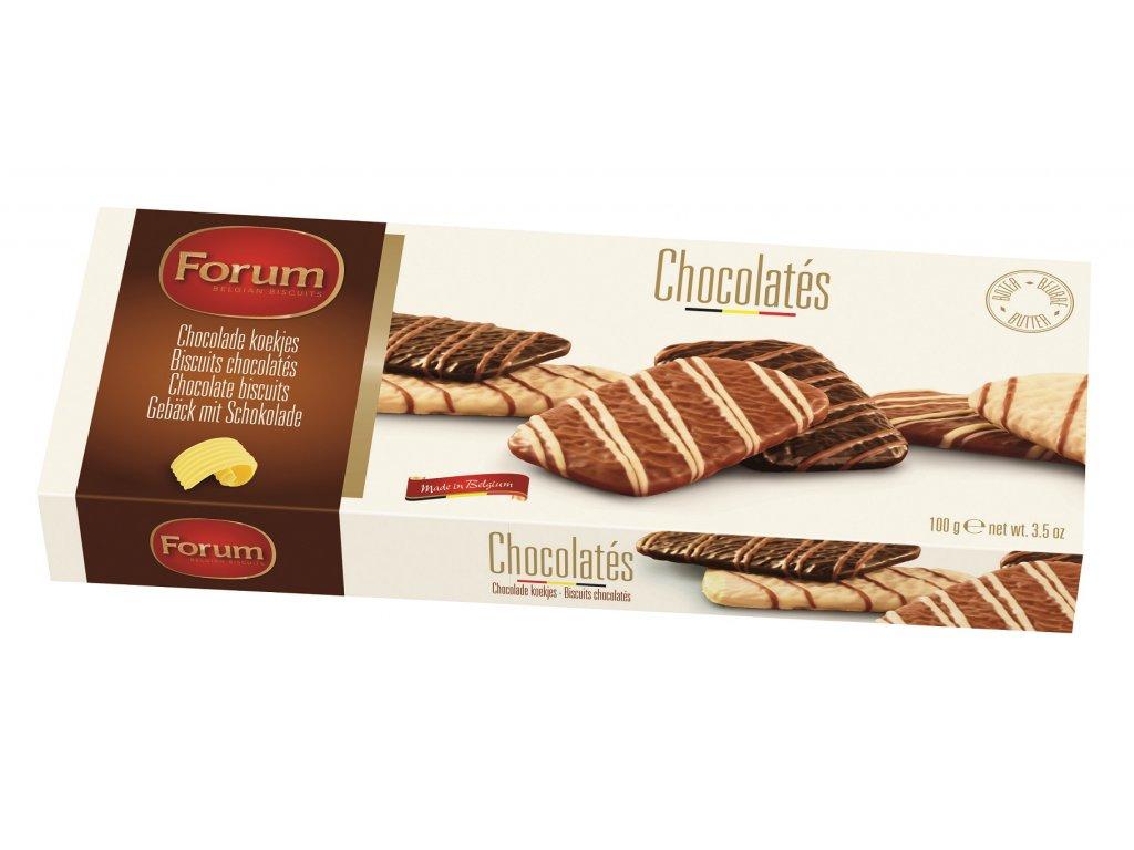 Sušenky máslové v čokoládě, 100 gr