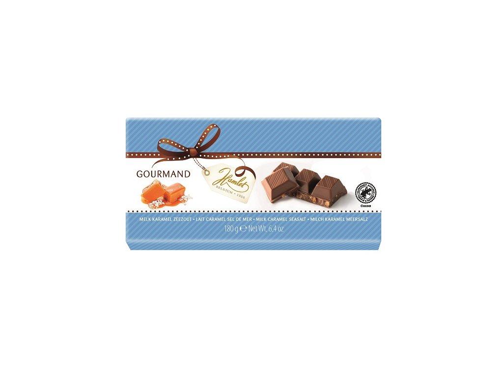 Tabulková čokoláda Hamlet- mléčná s karamelem a mořskou solí, 180 gr