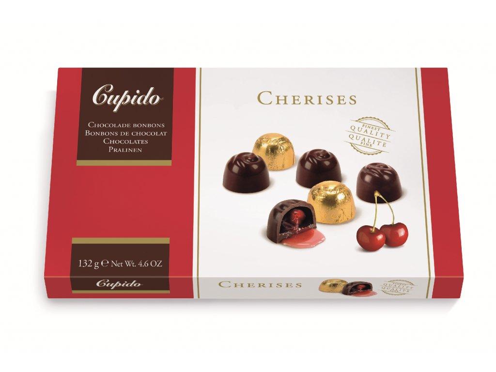 Belgické pralinky Hamlet -Cupido višně v čokoládě, 132 gr