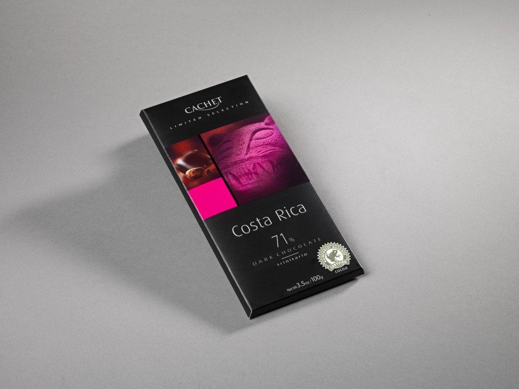 Tabulková čokoláda Cachet -Costa Rica hořká 71%, 100 gr