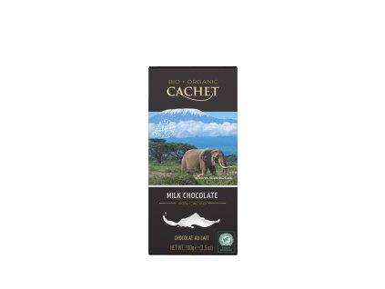 Tabulková čokoláda Cachet -BIO mléčná 40%, 100 gr