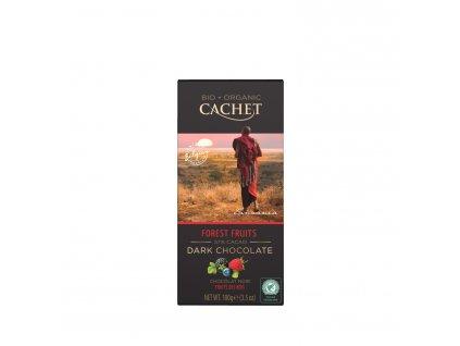 Tabulková čokoláda Cachet -BIO hořká 57% s lesním ovocem, 100 gr
