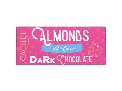 Tabulková čokoláda Cachet- Hořká 56% s mandlemi, 40 gr
