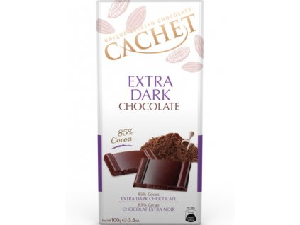Tabulková čokoláda Cachet- Extra hořká 85%, 100 gr