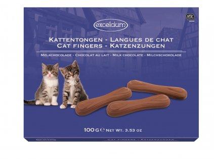 Hamlet- Kočičí jazýčky z mléčné čokolády, 100 gr