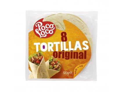 Pšeničné tortilla placky přírodní 20 cm (krt)