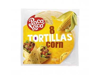 Kukuřičné tortilla placky 20 cm (krt)