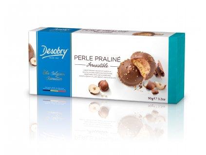 Belgické sušenky Desobry -Perly s lískovým oříškem, 90 gr