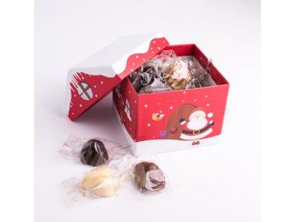 Belgické pralinky Cachet -Vánoční chaloupka směs, 130 gr