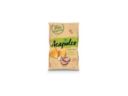 Nachos Chips Poco Loco -Cibule & Zakysaná smetana, 125 gr