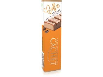 Tabulková čokoláda Cachet -mléčná s kávovou náplní, 70 gr