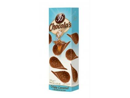 Belgické čokoládové chipsy Hamlet -slaný karamel, 125 gr