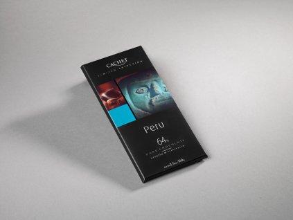 Tabulková čokoláda Cachet Peru 64% -hořká, 100 gr