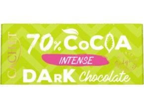 Tabulková čokoláda Cachet- Extra hořká 70%, 40 gr
