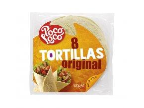 Pšeničné tortilla placky přírodní 20 cm - 8 ks