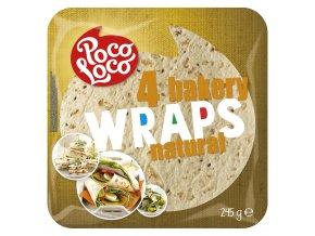 Wraps - pšeničné tortilla placky přírodní 25 cm - 4 ks