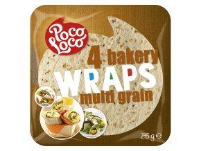 Wraps - pšeničné placky z vícezrnné mouky 25 cm - 4 ks