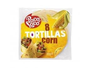 Kukuřičné tortilla placky 20 cm - 8 ks