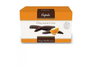Orangettes- Kandovaná pomerančová kůra v hořké čokoládě, 125 gr