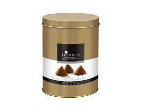 Belgické lanýže Bianca kakaové -v plechovém obalu, 300 gr