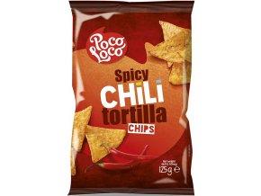 Nachos chips chilli, 125 gr