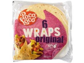 Placky Poco Loco -pšen.-kukuřičné 25cm-6ks, 380 gr
