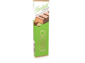 Tabulková čokoláda Cachet -mléčná s lískooříškovou náplní, 75 gr