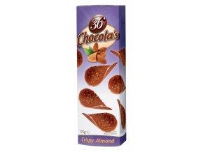 Belgické čokoládové chipsy Hamlet -mandlové, 125 gr
