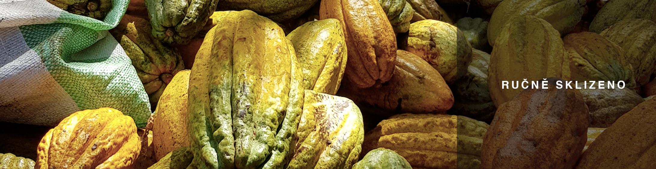 Ručně sbírané kakaové boby