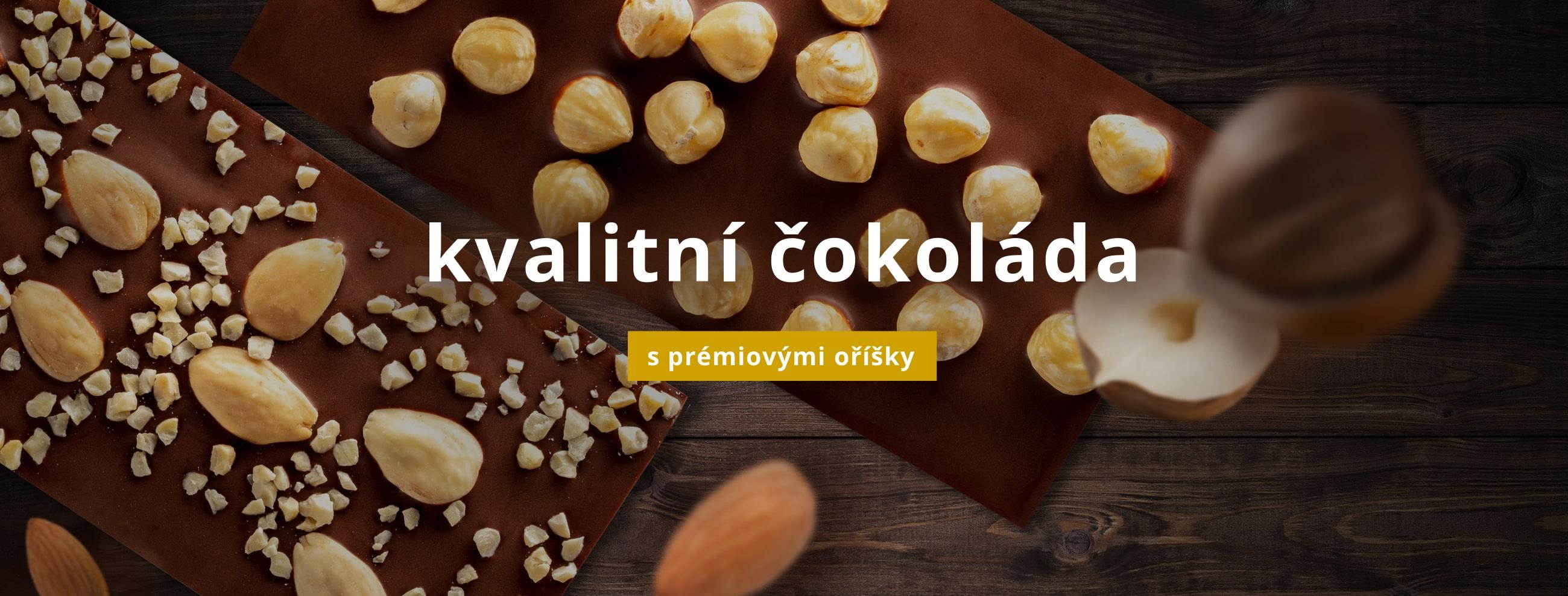 Kvalitní čokoláda s prémiovými oříšky