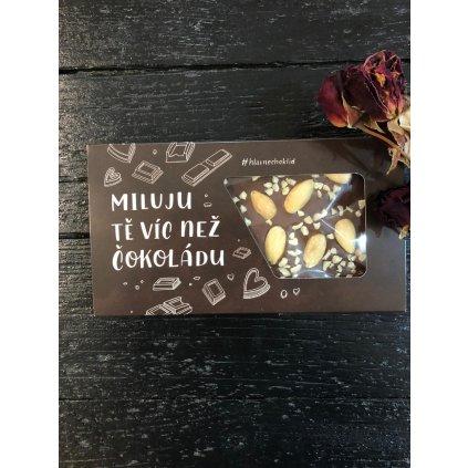 Valentýnská čokoláda mandle